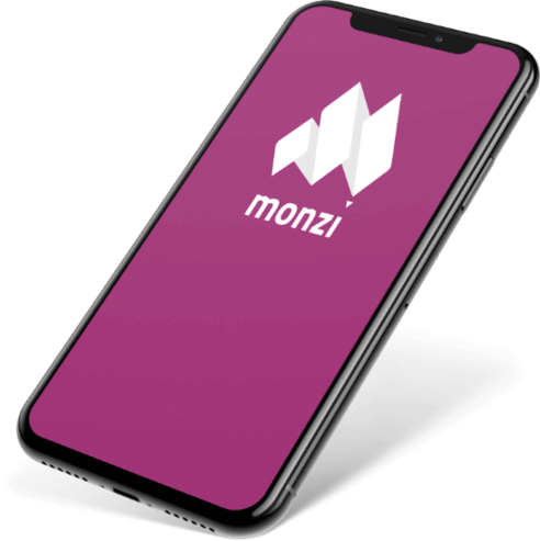 Smartphone with Monzi Logo