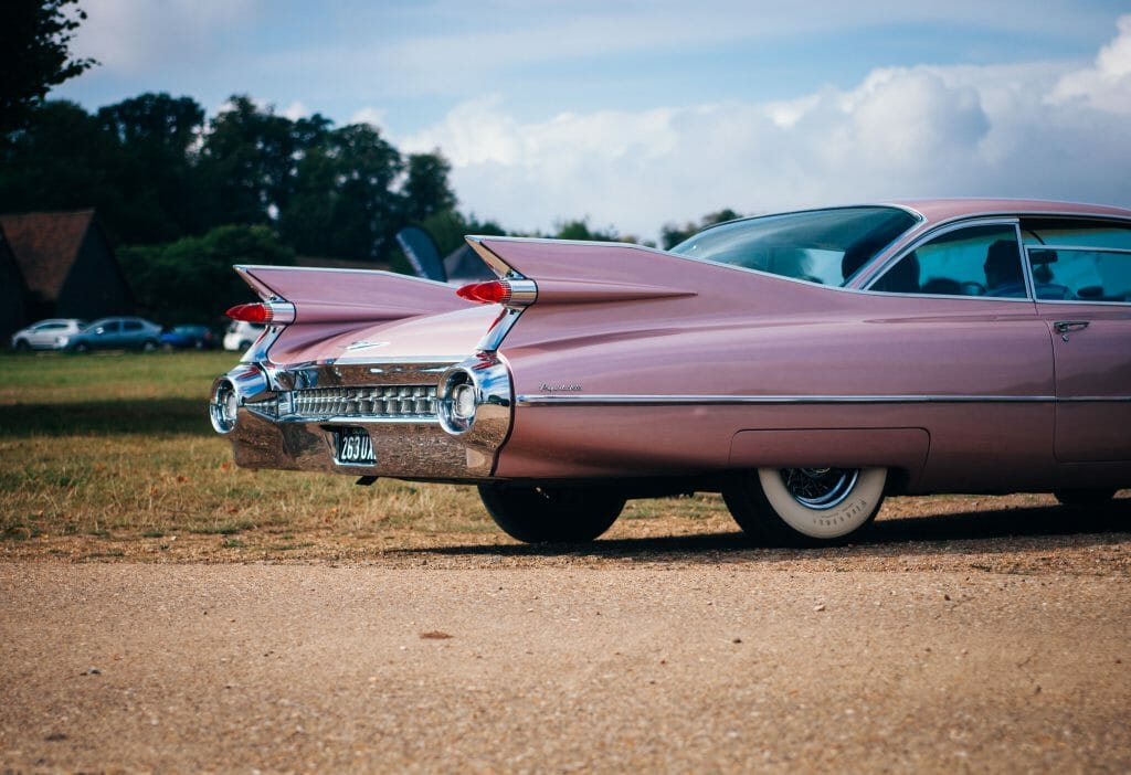 Car repair loans used for pink retro car