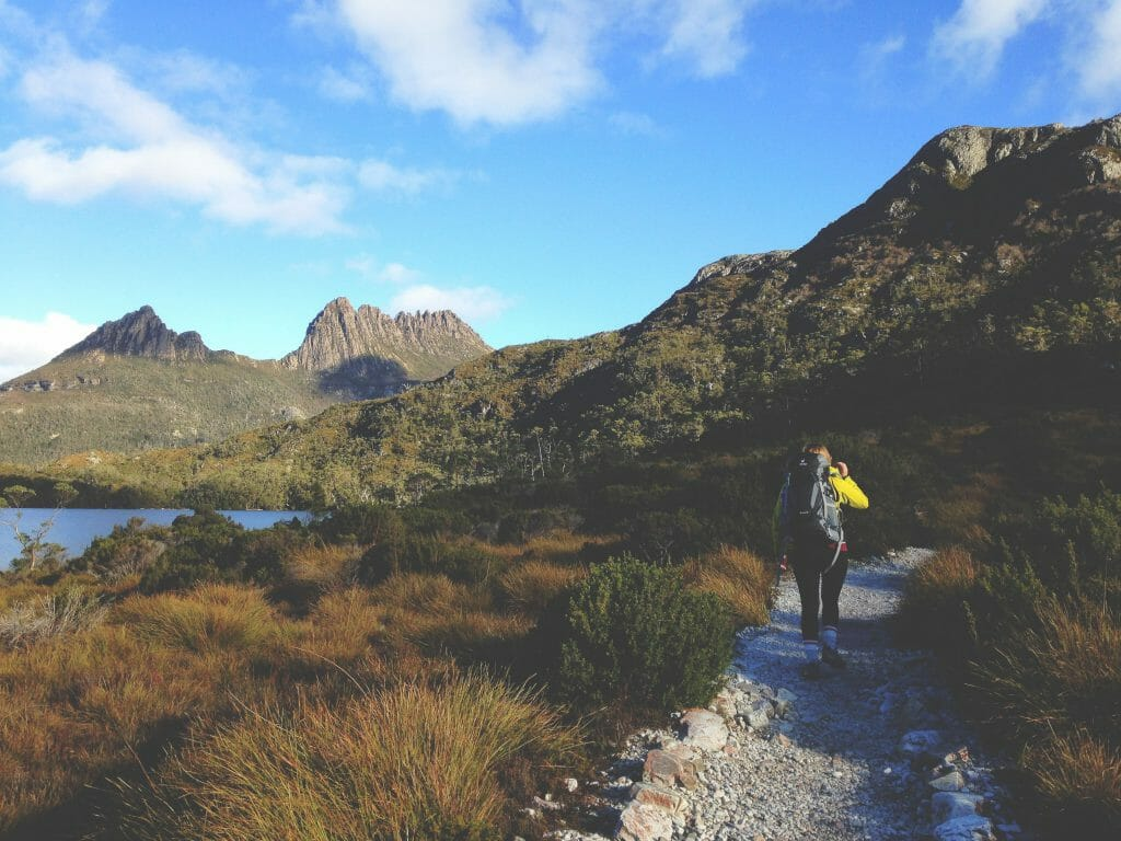 Woman walking on path in Tasmania before applying for emergency loans