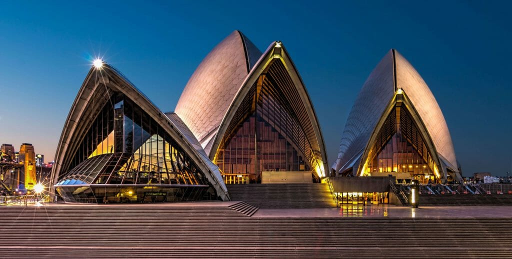 Sydney Opera House at night cash loans New South Wales