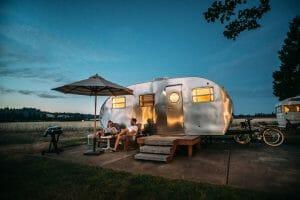 people enjoying mini caravans Australia